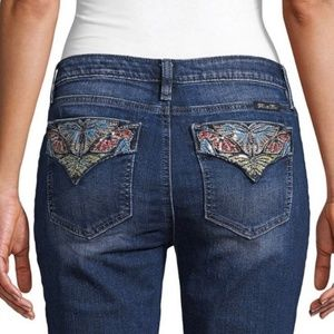 Miss Me Size 25 Sequin Butterfly Skinnies